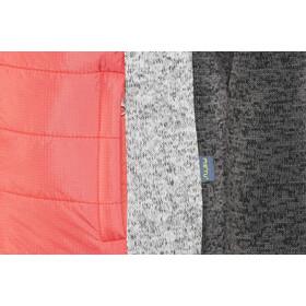 Meru Prag Veste Polaire tricot Rembourrée Enfant, carbon/pink